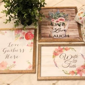 SPECIAL MOMENTS MEMORIES COLLECTION WALL ART SET•3